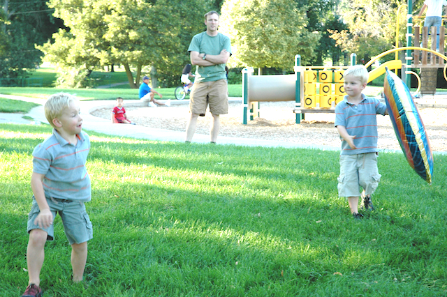 Kyle, Eli & Dave, Sugarhouse Park, Salt Lake City, Utah, August, 2006