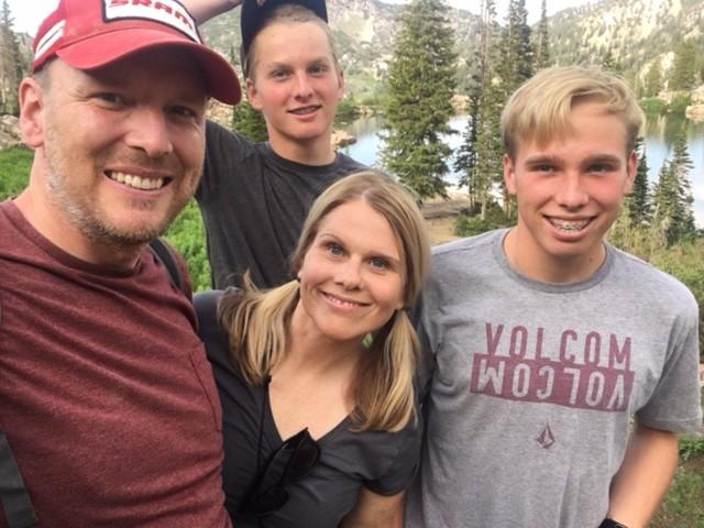 Us, Cecret Lake, Albion Basin near Alta, Utah, Sunday, July 9