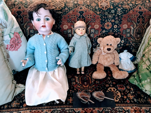 Creepy Dolls & a Teddy Bear in Agatha Christies's Summer home: Greenway, near Brixham, Devon, United Kingdom
