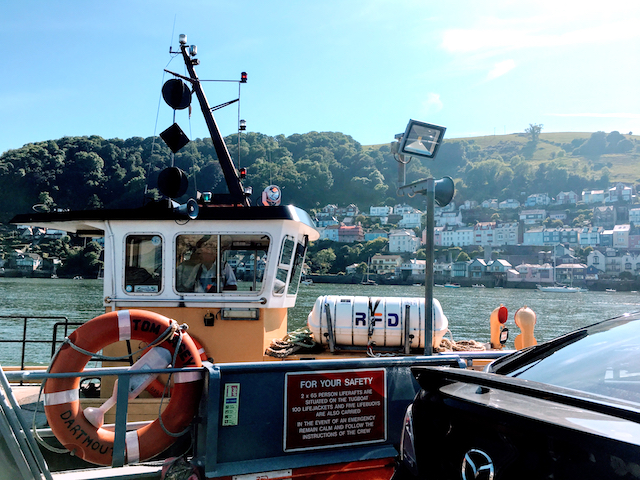 A view of the tugboat while we were riding the tugboat in between Kingswear & Dartmouth, Devon, United Kingdom