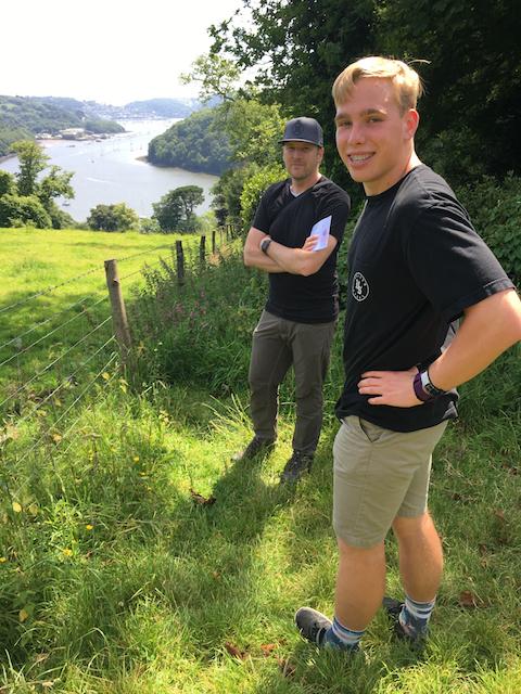Dave & Kyle at Agatha Christie's summer home: Greenway, near Brixham, Devon, United Kingdom