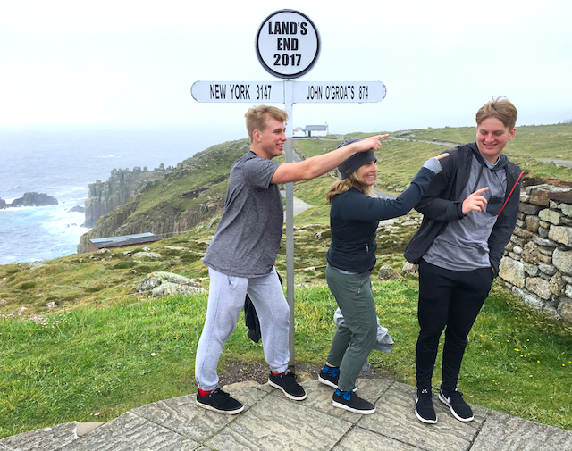 I love these boys! Land's End, Cornwall, England