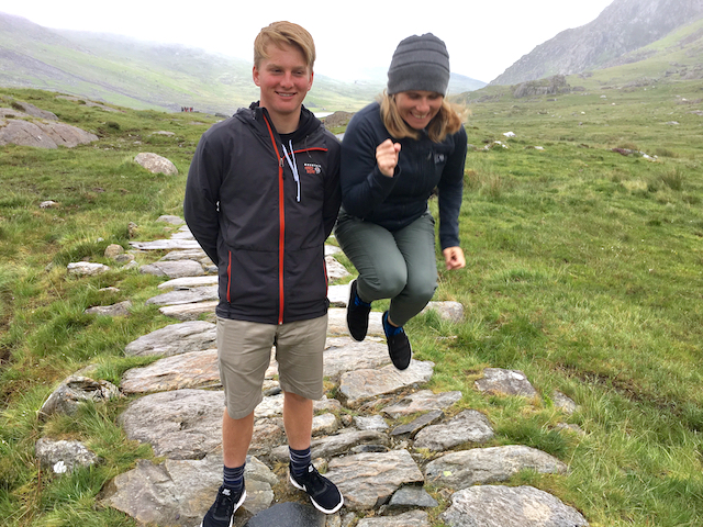 Me & Easy E. He puts up with me & is a super considerate human. Man, I love this kid! Snowdownia National Park, Wales